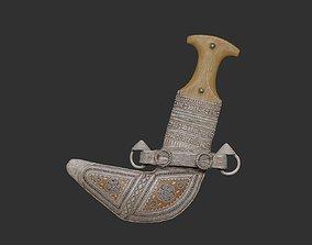 Omani Khanjar 3D Printable Model