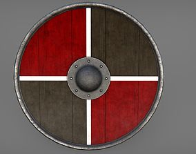 Round Shield Collection 01 3D asset