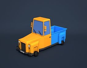 3D model Low Poly Cartoon Truck