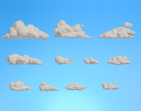 Low Poly Clouds Pack 1 3D model VR / AR ready