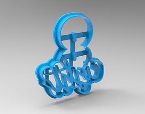 numbers cookie cutter 8 3D print model