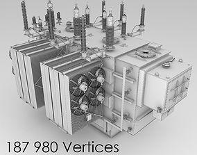 Electrical substation pack 3D model