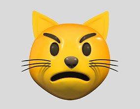 Emoji Pouting Cat 3D