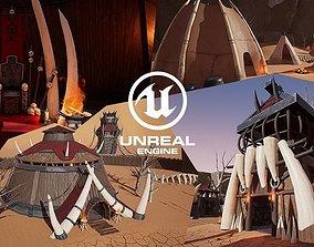 UE4 - Stylized Orc Village 3D asset