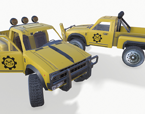 PickUP Yellow 3D asset