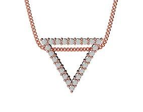 Triangle Pendant Minimalism gem 2mm 3D print model