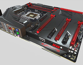 Asus Maximus VII Formula Game 3D model realtime