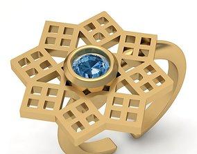3d-model flower gold ring