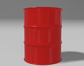 Black steel barrel 3D model low-poly