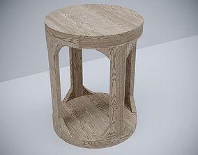 3D model Restoration hardware MARTENS ROUND SIDE TABLE