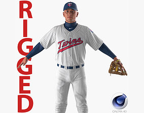 3D Baseball Player Rigged Twins for Cinema 4D