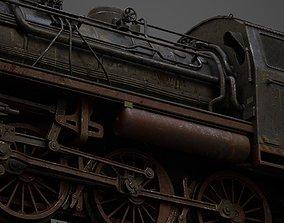 3D model steam-The locomotive
