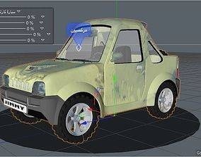 car rigged Control 3D animated