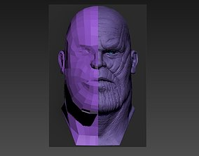 Low poly Thanos Head Model 3D