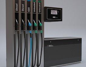 3D model Gas Fuel Dispenser Pump