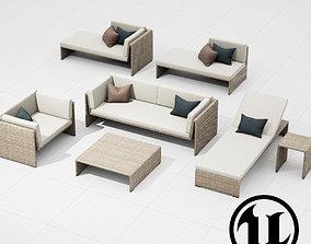 3D model Dedon Slimline Set UE4