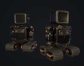 3D model Industrial black robot