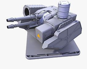 gun Sci-Fi Light Laser Turret 3d model