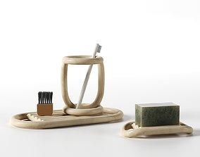3D model Bathroom Accessories Set