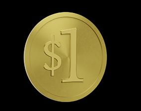 3D 1 Dolar Coin