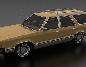 3D model VR / AR ready Ford Granada 4dr wagon 1982