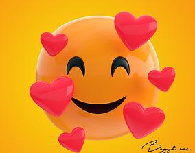 Emoji Feeling Loved 3D asset
