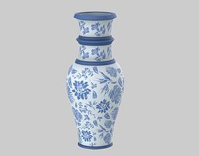 3D Flower Blue Vase