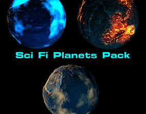 3D Sci Fi Planets Pack