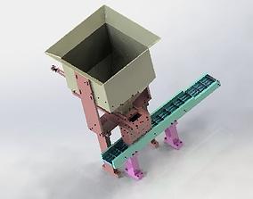 Equal quantity of hopper 3D model