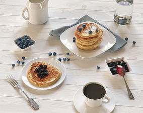 Pancakes Breakfast 3D