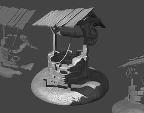 3D print model Medieval well