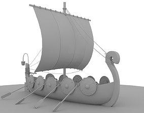 sea Viking Longship 3D
