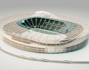 Municipal Stadium in Wroclaw Poland 3D