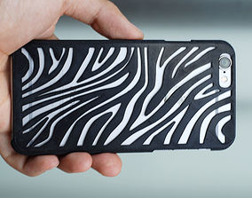 3D printable model Iphone 6 Case Zebra
