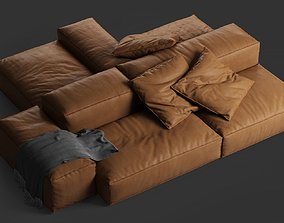 3D model leather Extrasoft sofa by Living Divani