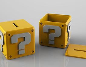 Mario Question Coins Bank Fan Art 3D printable model