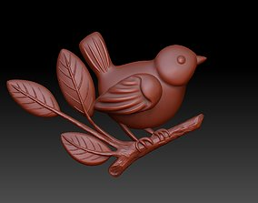bird on a branch 3D printable model