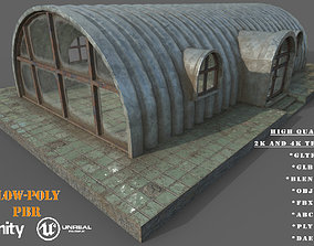 VR / AR ready Old Steel Shed PBR Low-Poly Game Ready 3D
