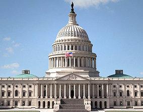 3D model complex United States Capitol