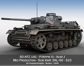 wehrmacht PzKpfw III - Ausf J - 523 3D
