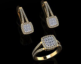 3D print model Ring and Earrings 75