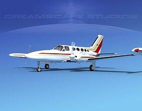 3D Cessna 414 Chancellor V01