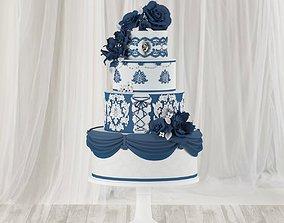 Wedding Cake 3D model cake