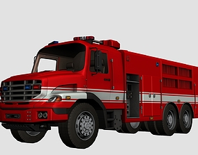 3D model low-poly Fire Truck