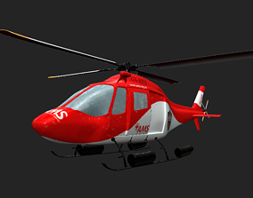 Red Cross Helicopter 3D
