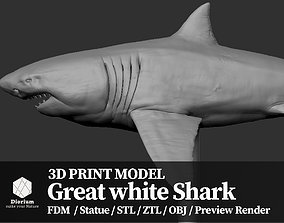 games Great white Shark - 3D Print Model