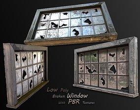 3D model low-poly broken window