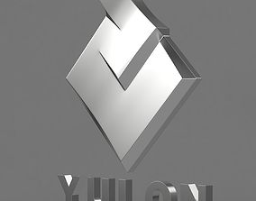 Yulon logo 3D model