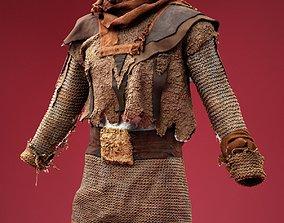 Medieval Soldier Costume 3D asset