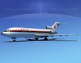 Boeing 727-100 Japan Airlines 2 3D